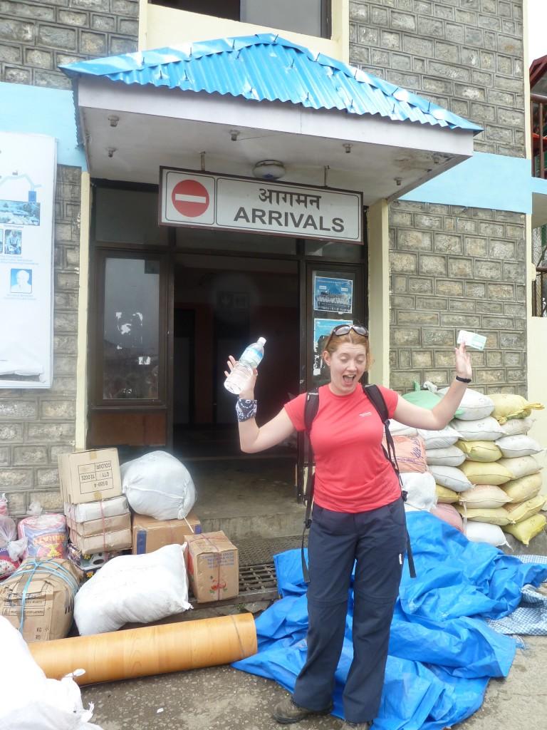 Everest Base Camp Trek - the arrivals hall in Lukla