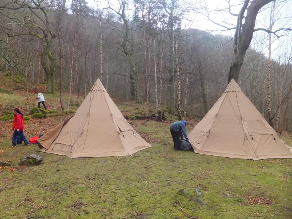 tipi and canoeing in the Lake District