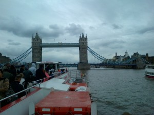Riverboat cruise down The Thames