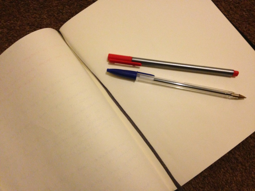 pen and paper writing