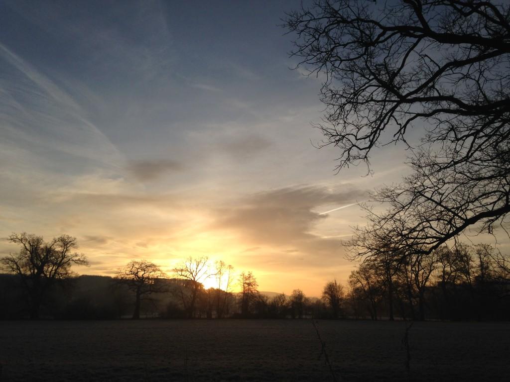 sunset in UK