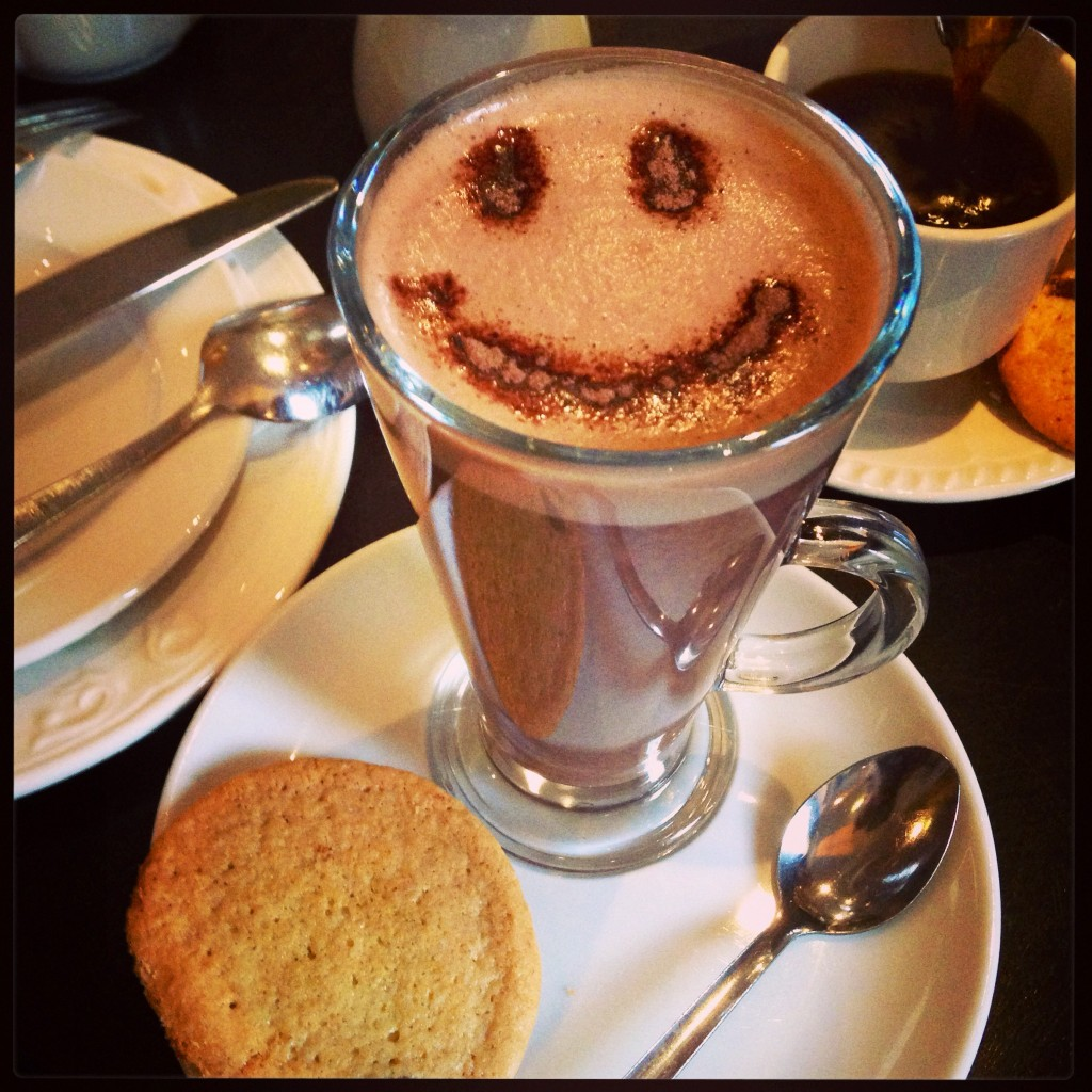smile hot chocolate