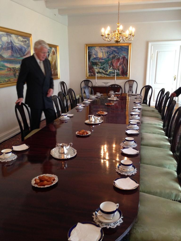 Tea at Presidents house