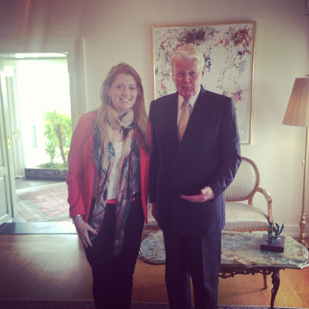 Jenny Lowthrop and President of Iceland