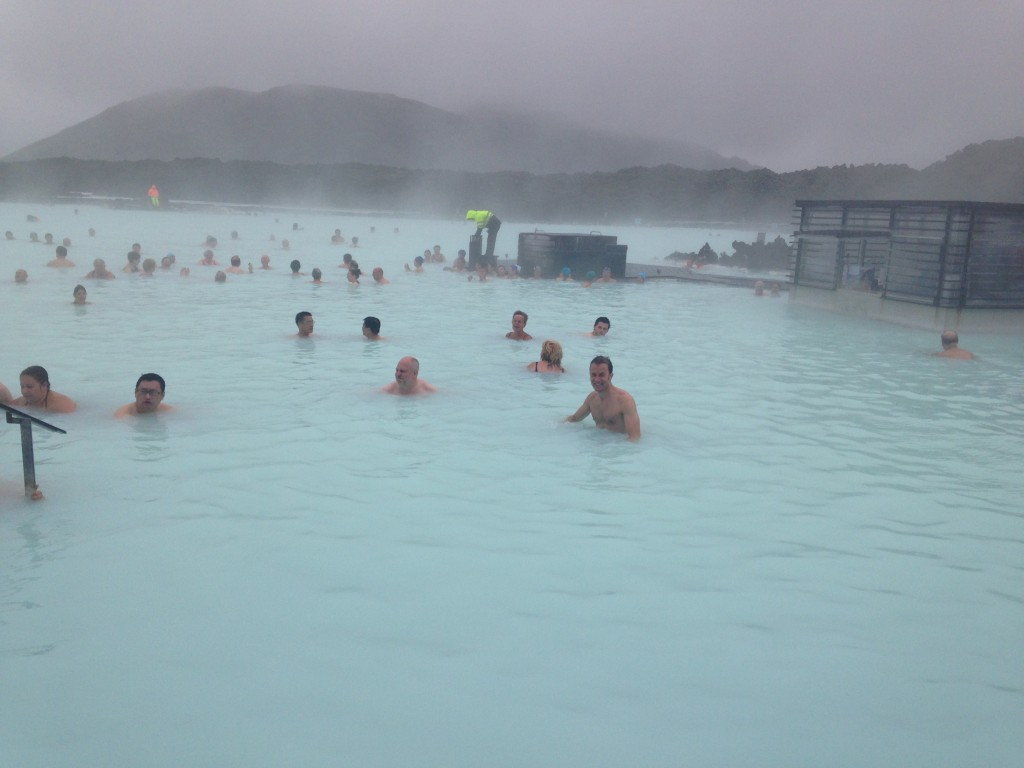 The Blue Lagoon in Iceland in a storm