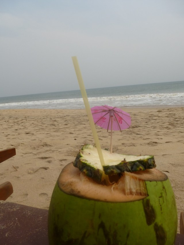 coconut on Ghana beach