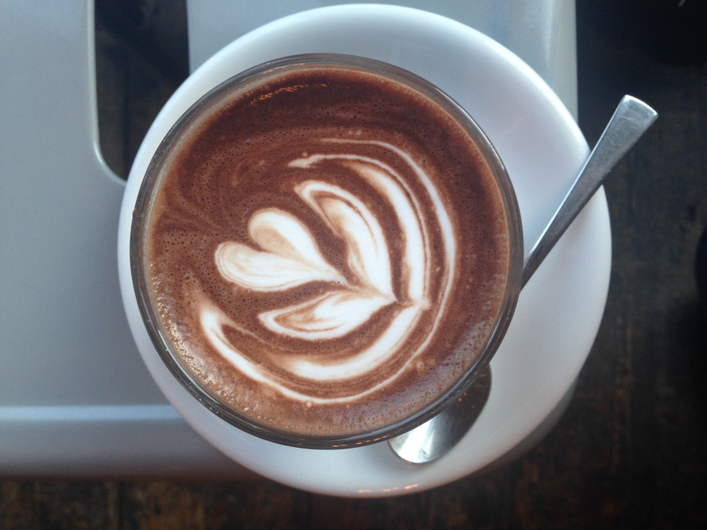 hot chocolate at arepa and co