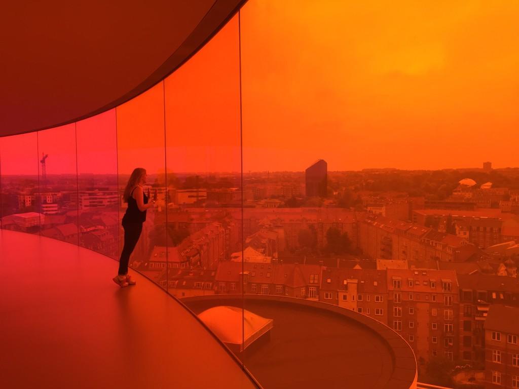aros rainbow panorama orange