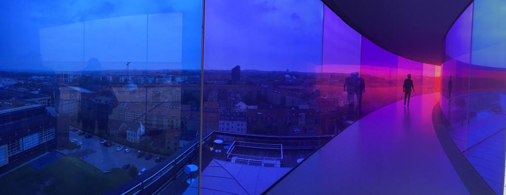 aros rainbow panorama purple
