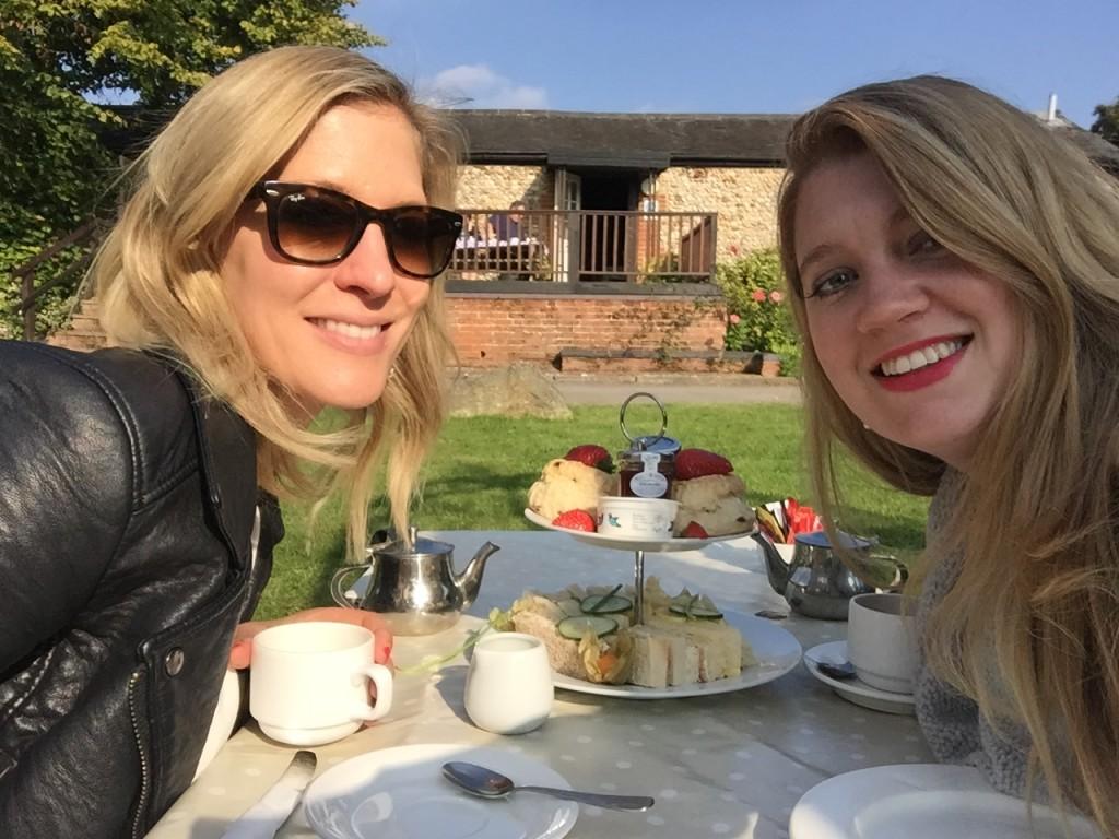 Afternoon tea at Chilford Hall