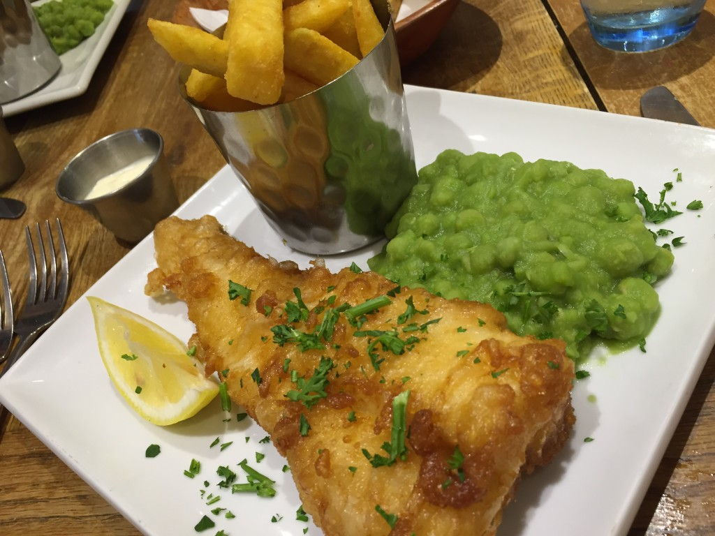 fish and chips at White's restaurant Hastings