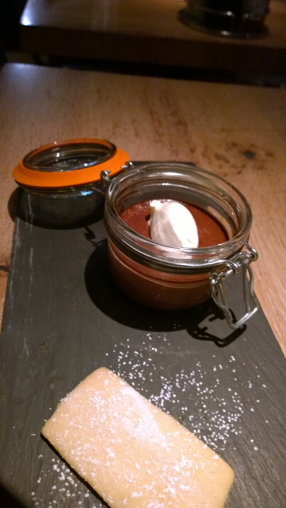Chocolate pot at Fish Market London