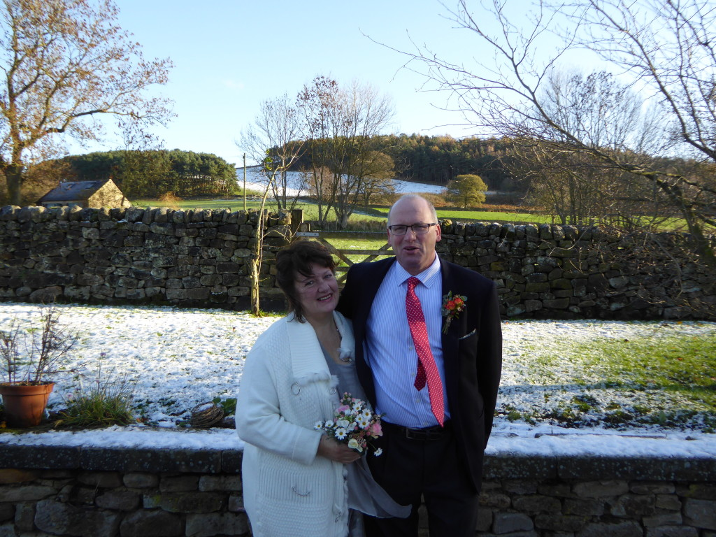 Winter Derbyshire wedding