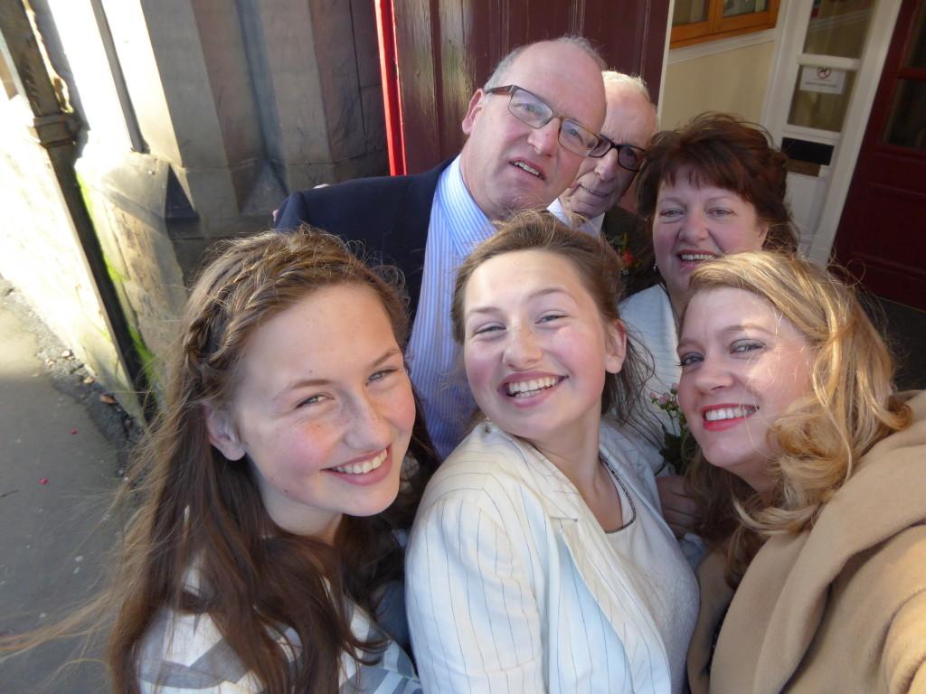 Wedding selfie Bakewell
