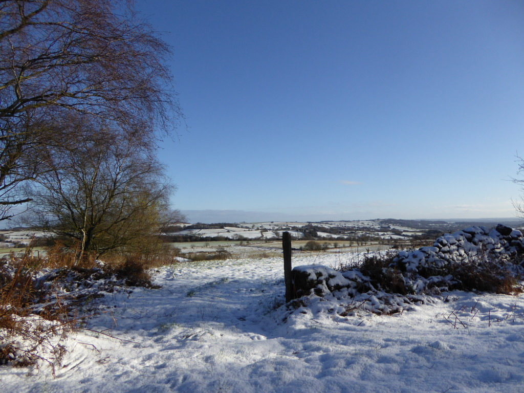 Derbyshire in the snow