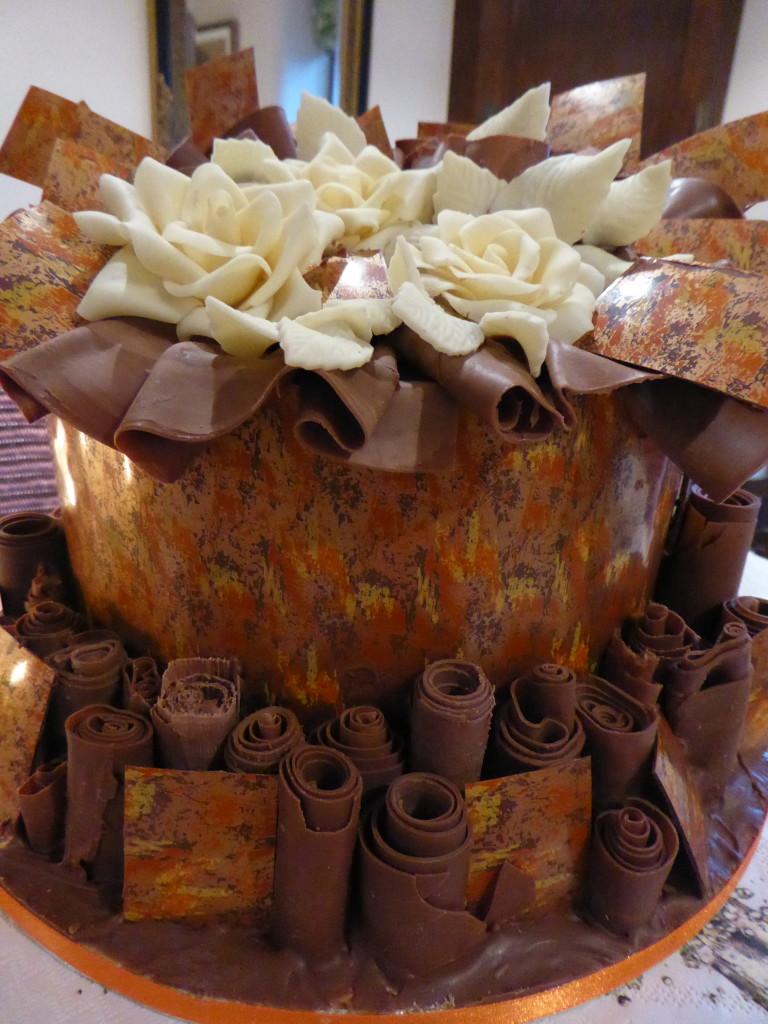 Chocolate wedding cake, Derbyshire