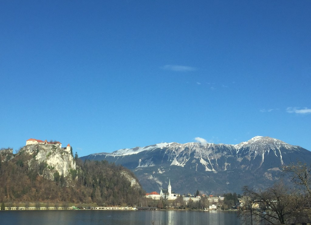 Lake Bled, Slovenia blue sky