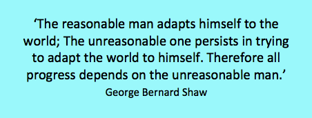 George Bernard Shaw unreasonable man quote