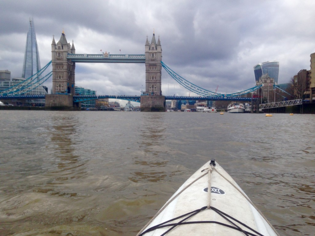 kayaking down the Thames