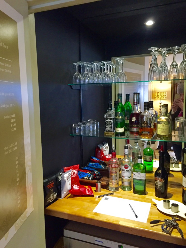 Honesty Bar at brooks guest house