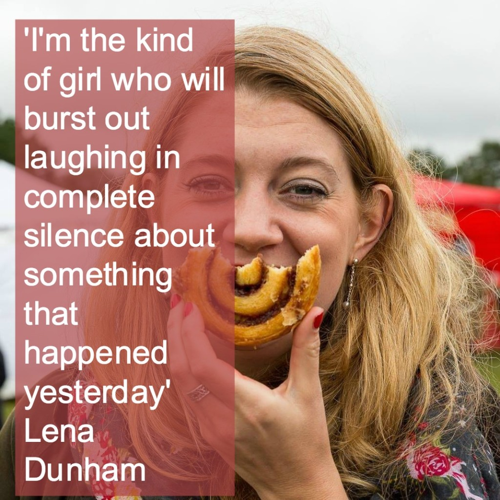 Lena Dunham laughing quote