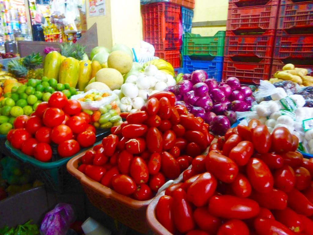 fruit in the market in Antigua