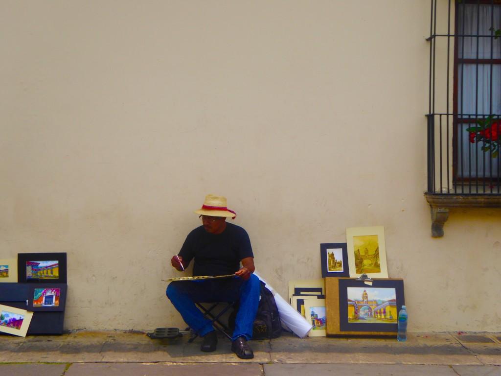 artist in Antigua, Guatemala