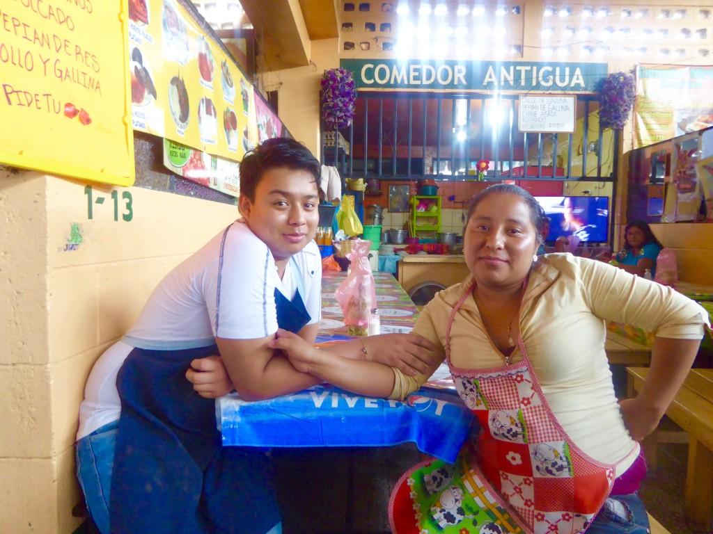 friendly locals in Antigua, Guatemala