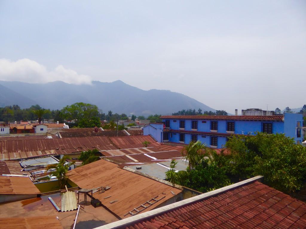 roof top viewsover Antigua Guatemala