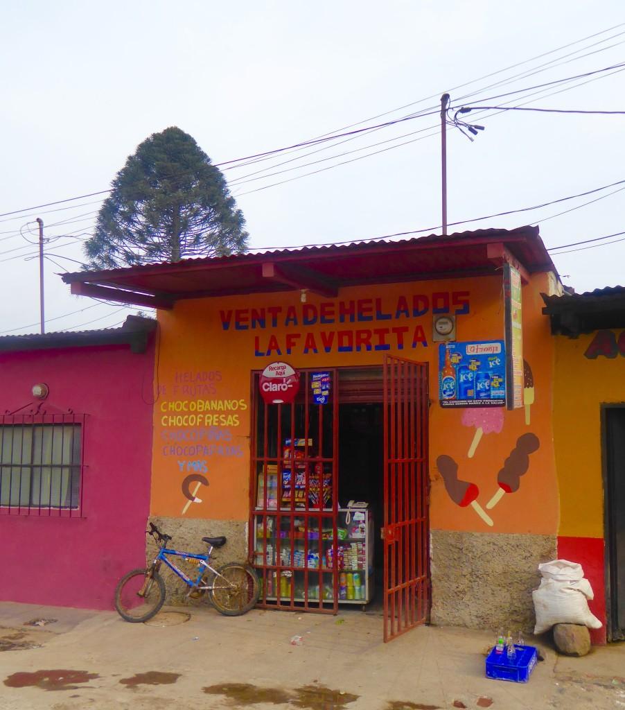 local shop in Antigua, Guatemala