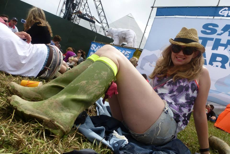 Glastonbury festival camping