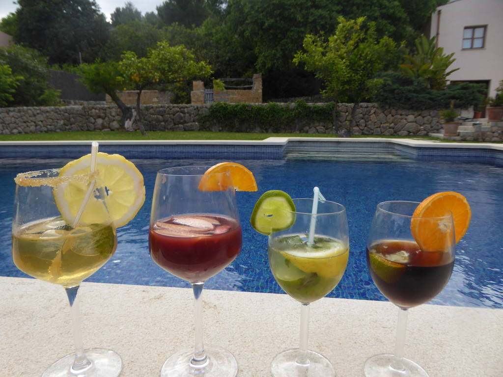 Cocktail making in Travelopo villa Mallorca