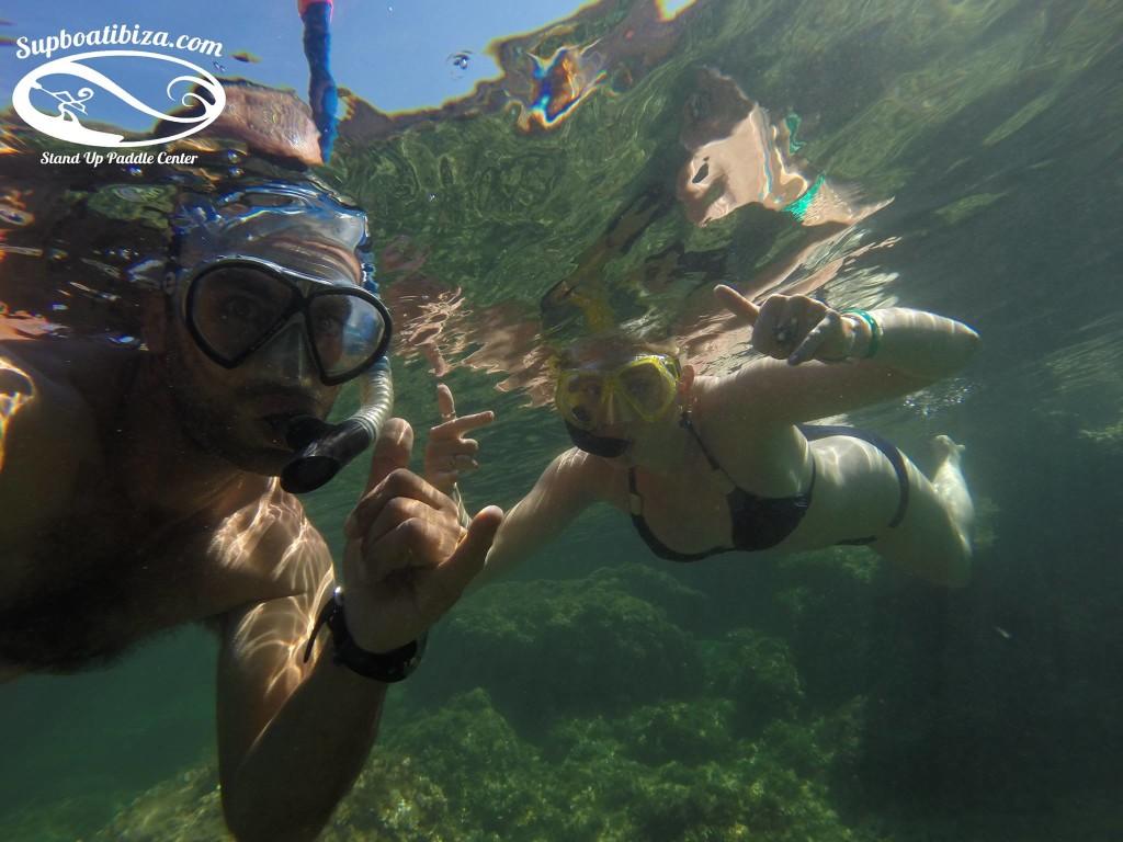 Snorkelling Ibiza SUP BoatIbiza
