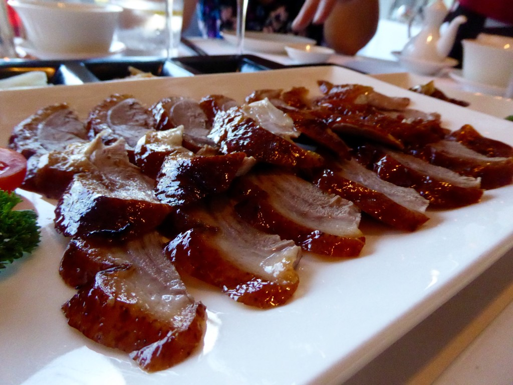 Beijing duck at Min Jiang restaurant, London
