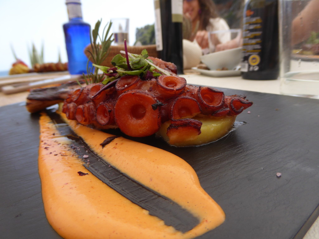 Food at Amante beach resort, Ibiza