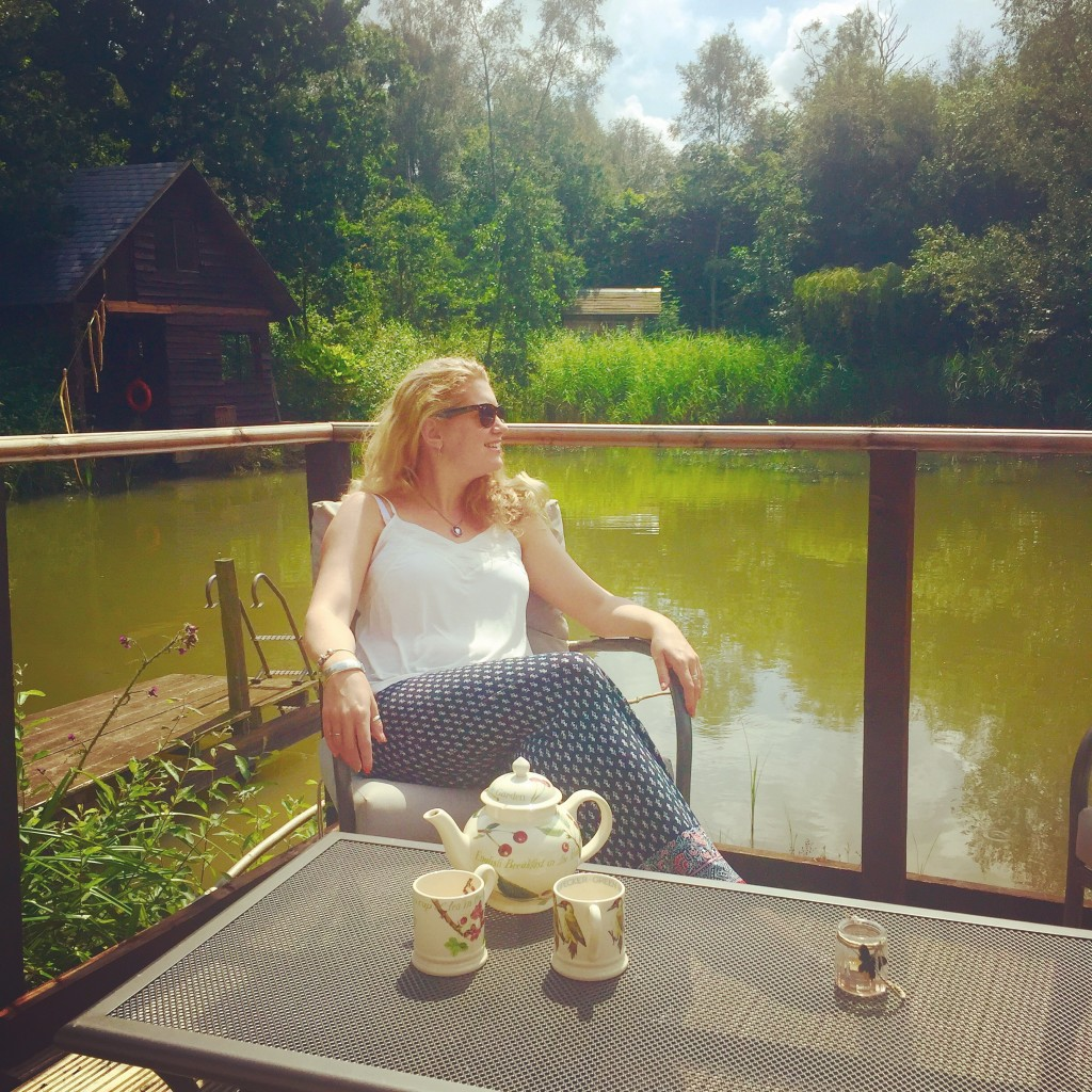 Relaxing at Hill Holt Wood
