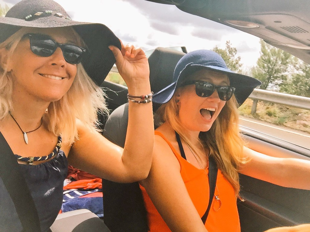 Roadtrip in a convertible around Montenegro