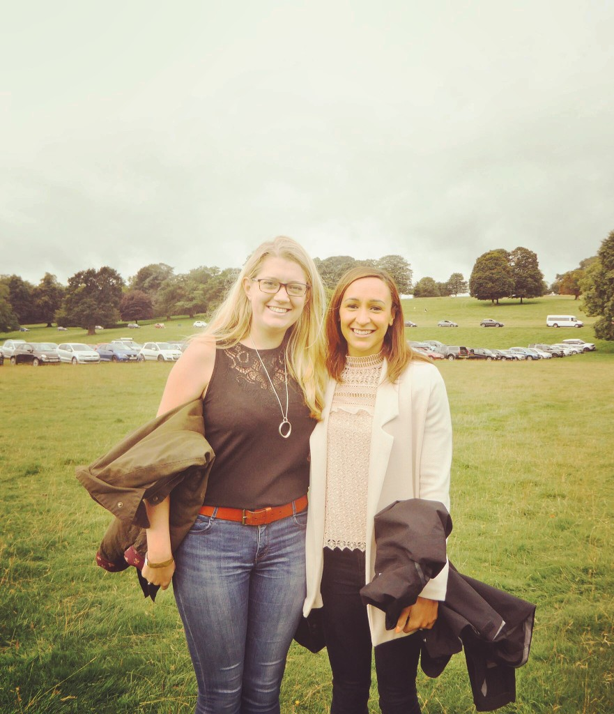 Jess Ennis Hill and Jen Lowthrop at Chatsworth Country Show