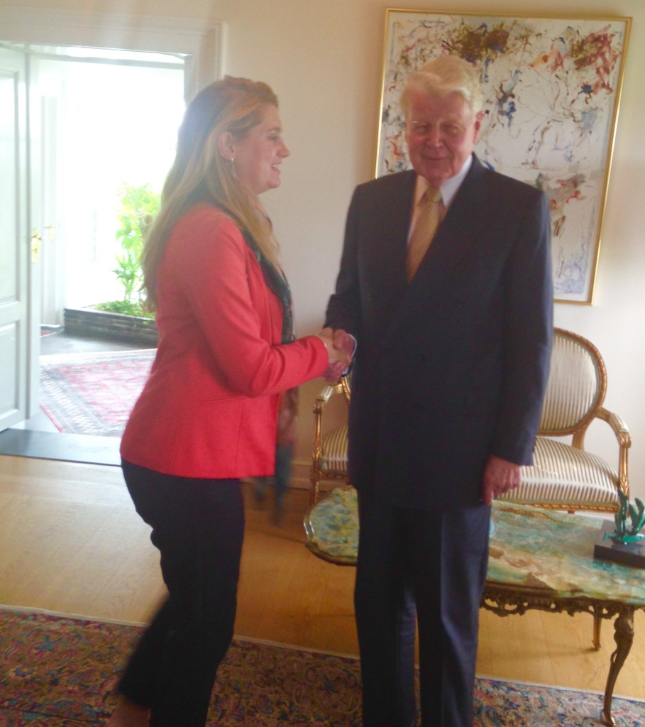 Meeting the president of Iceland - Jen Lowthrop