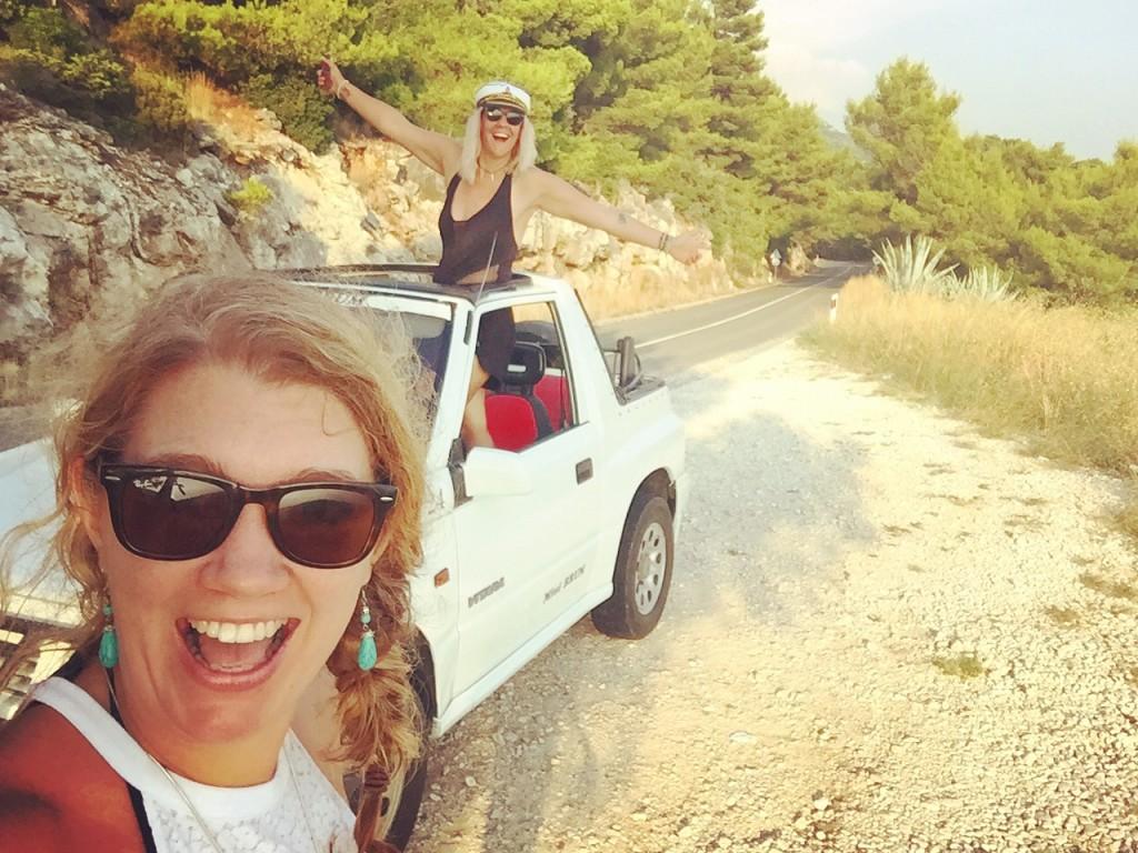driving a jeep on Mljet, Croatia - Mesailors