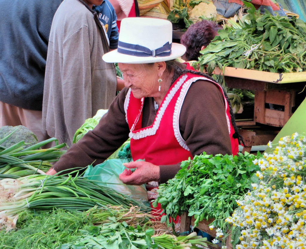 Ecuador woman at market