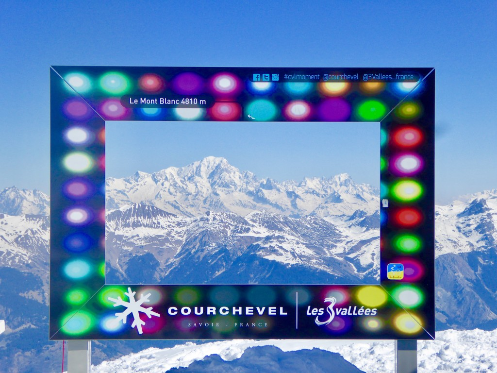 Courchevel 1850 with views on Mont Blanc