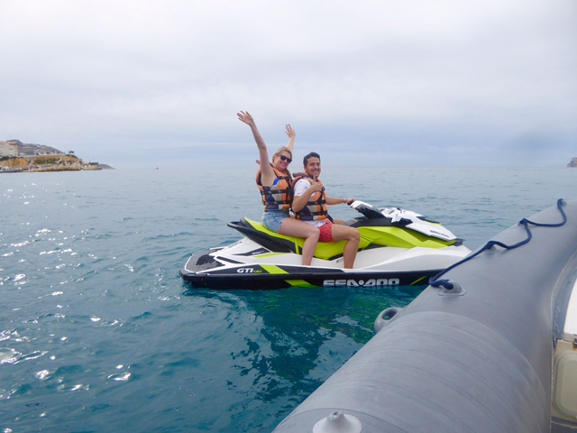 jet skiing in Benidorm