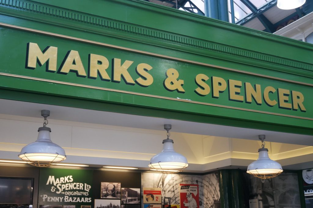 Marks and Spencers in Leeds arcade