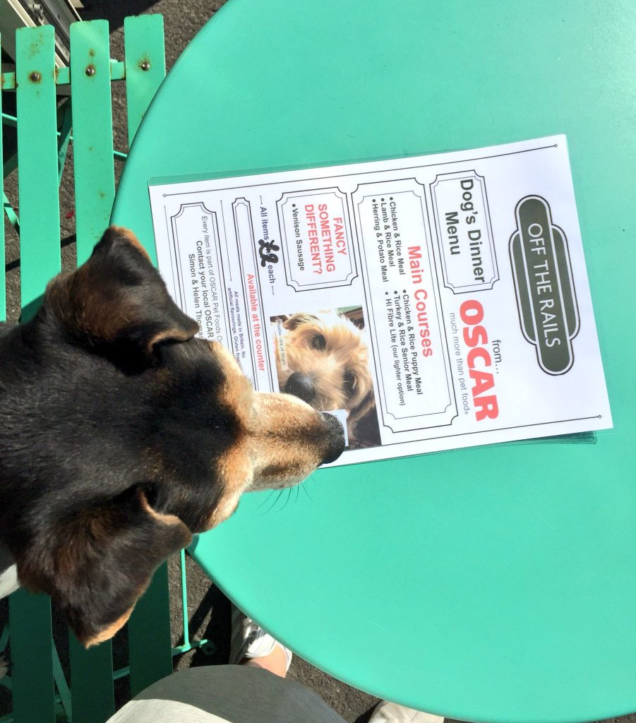 Dog menu Off the Rails
