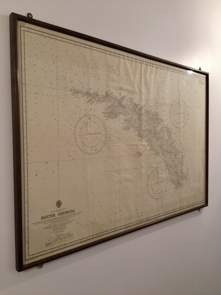 Map themed interiors, Antarctic