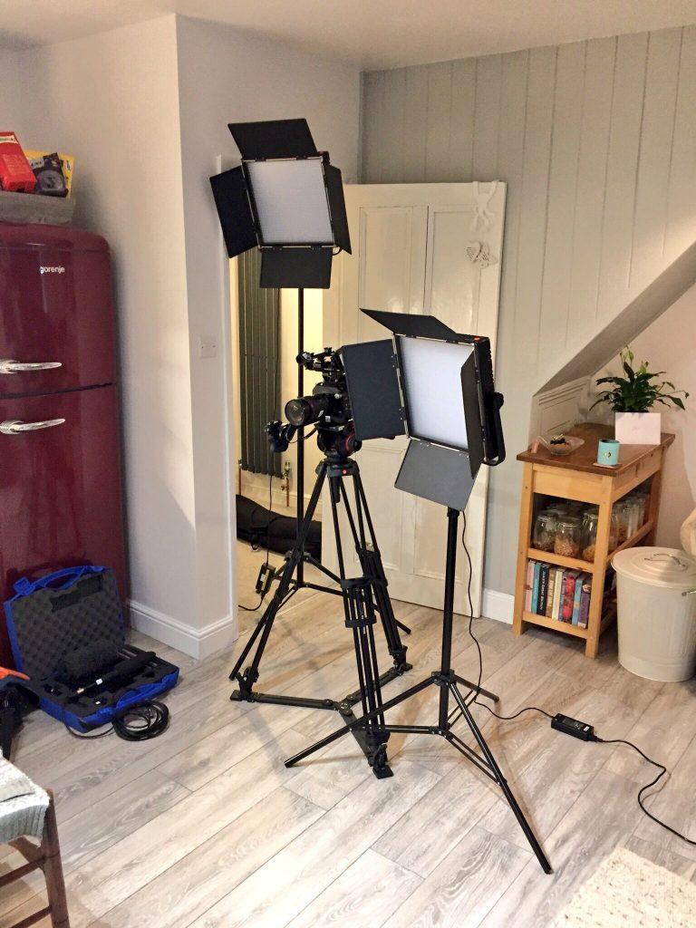 Filming in my kitchen, Jen Lowthrop