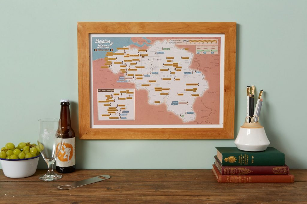 Belgium beer scratch map