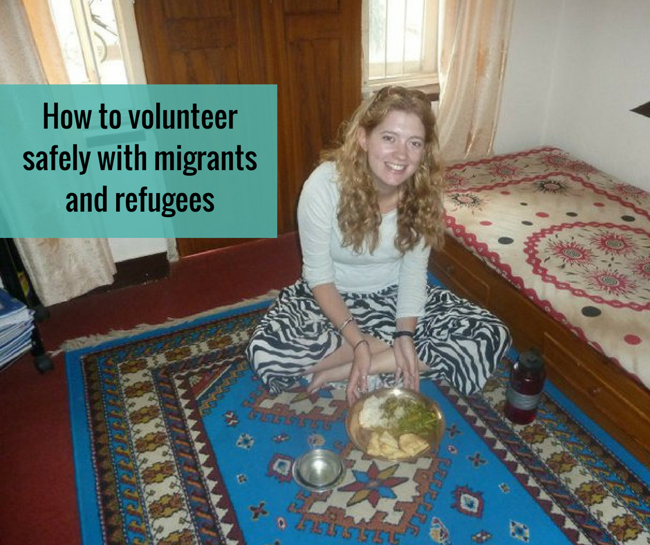 volunteering safely with refugees
