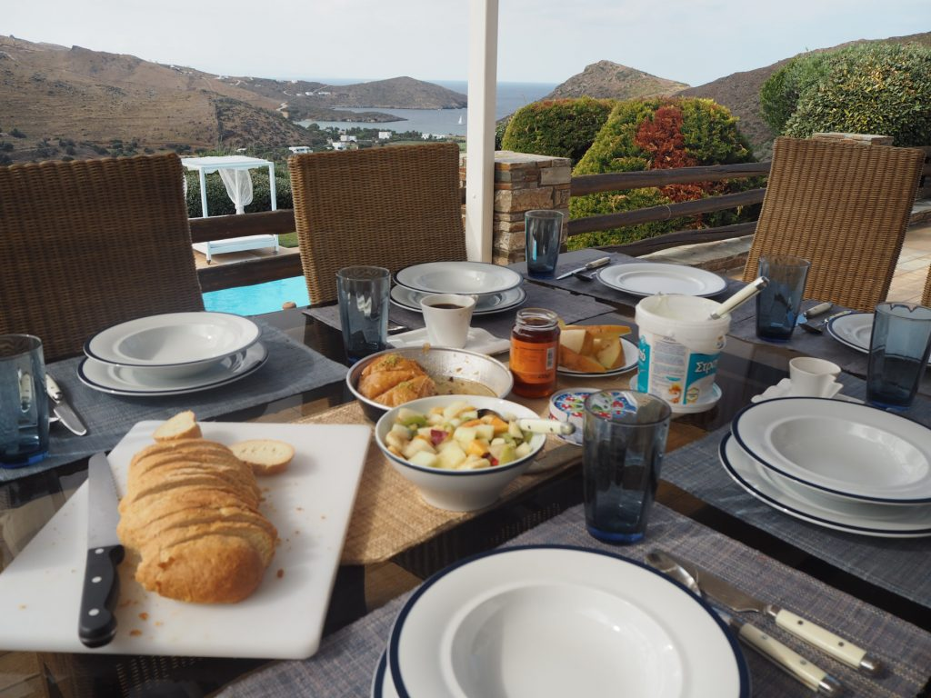 breakfast at Heliadas villas